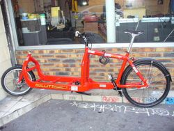 Vélo cargo vide